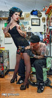 Fun at the Tattoo Parlor by Miss-MischiefX