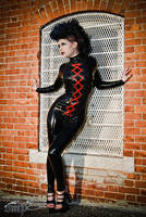Lacing Catsuit by Miss-MischiefX