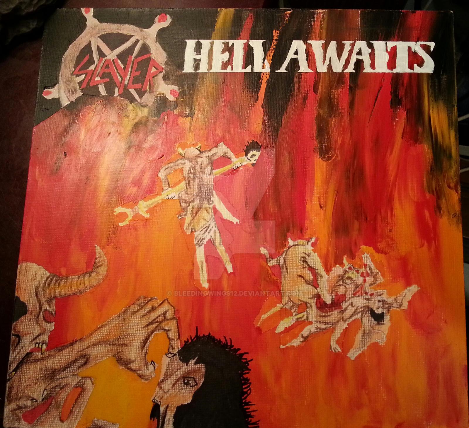 Slayer:Hell Awaits album cover by bleedingwings12 on ...