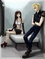 Eyes on FF VII  - Cloud and Tifa in a Cell by CoffeeCat-J