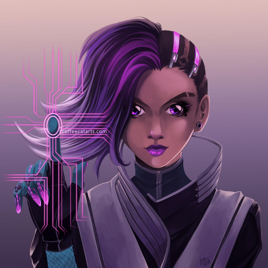 Overwatch - Sombra by CoffeeCat-J