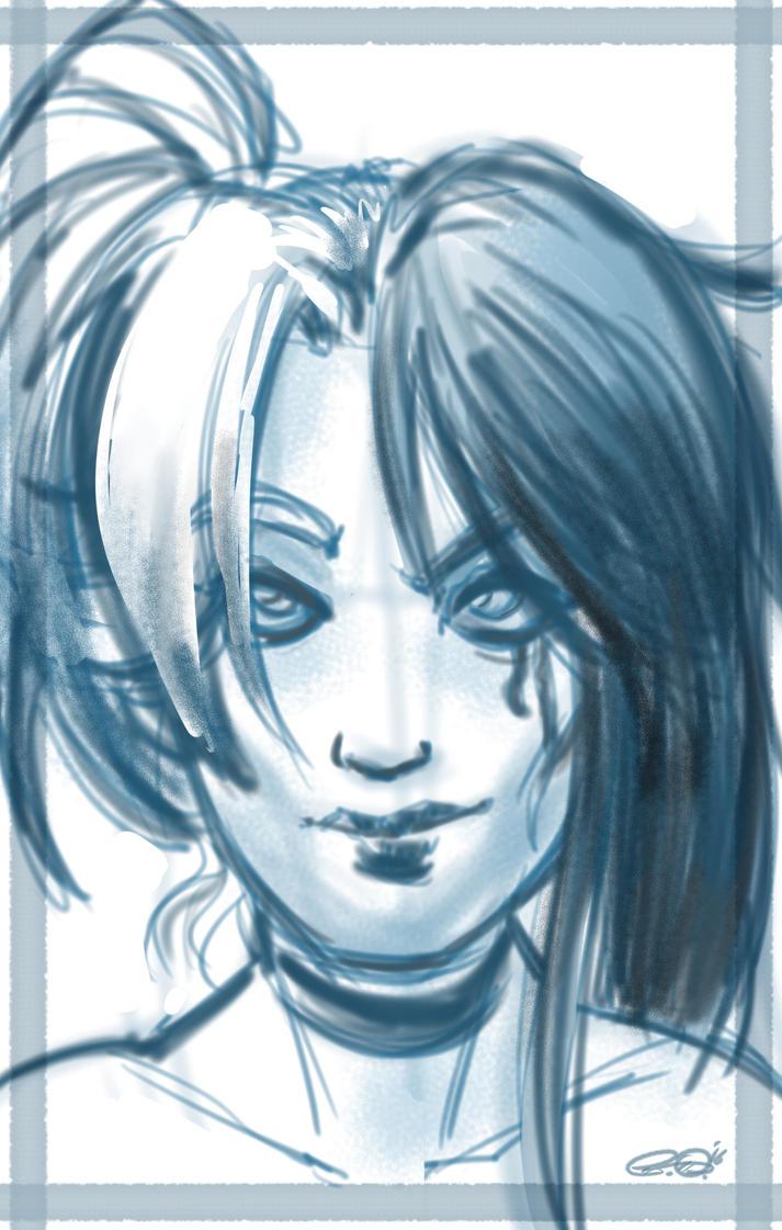 Harley Queen Sketch ( fan art ) by PeppeComix