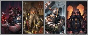 Fantasy Portraits 7 by TinySecretDoor