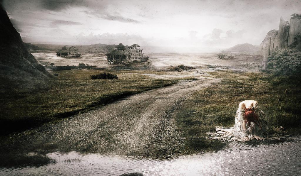 Landscape - matte painting