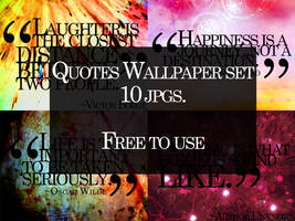 Quotes Wallpaper Set by cho-oka
