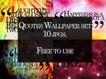 Quotes Wallpaper Set