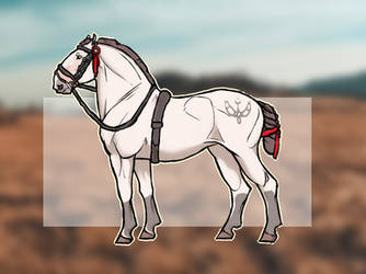 Draft horse adoptable (on hold) by RetrowaveCroc