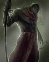 Frog  badass dude by Nahelus