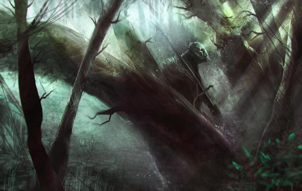 Alien scout by Nahelus