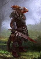 Lizardman by Nahelus