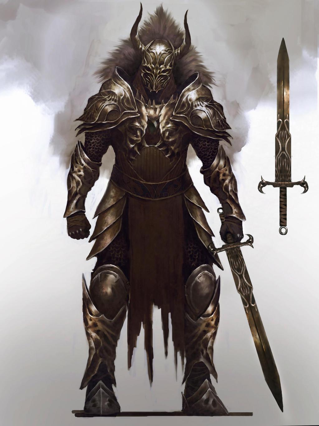 Knight armor design by Nahelus on DeviantArt