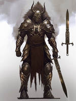 Knight armor design by Nahelus