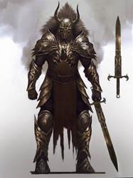 Knight armor design by Nahelus