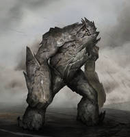 Rock Golem by Nahelus