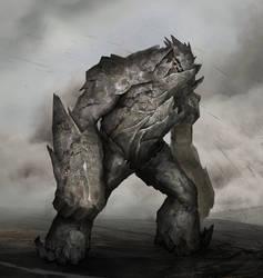 Rock Golem by Nahelus