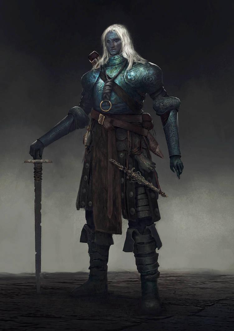 Dark elf concept by Nahelus
