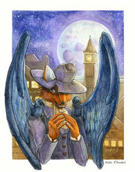 Trickster Fox and Wings by Musical-Wolf