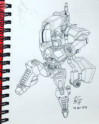 20 Sketches 20 Days Apr 2018 02 Optimus Prime by Poila-Invictiwerks