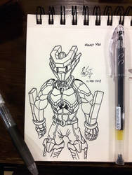20 Sketches 20 Days May 2018 01: Magnet Man