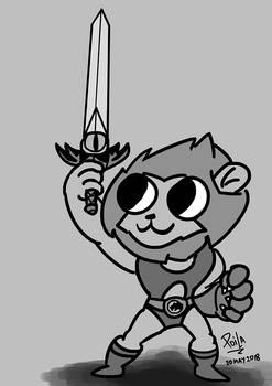 A cartoonified Lion-o