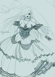 szkic_3_lady_in_red by V-chanek
