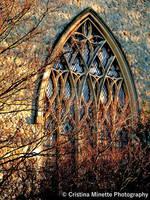 Church Window at Sunset