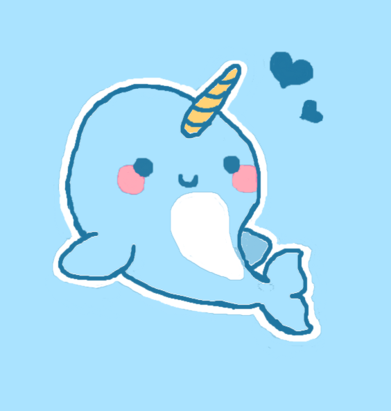 Baby Narwhal by maddyline1998 on DeviantArt