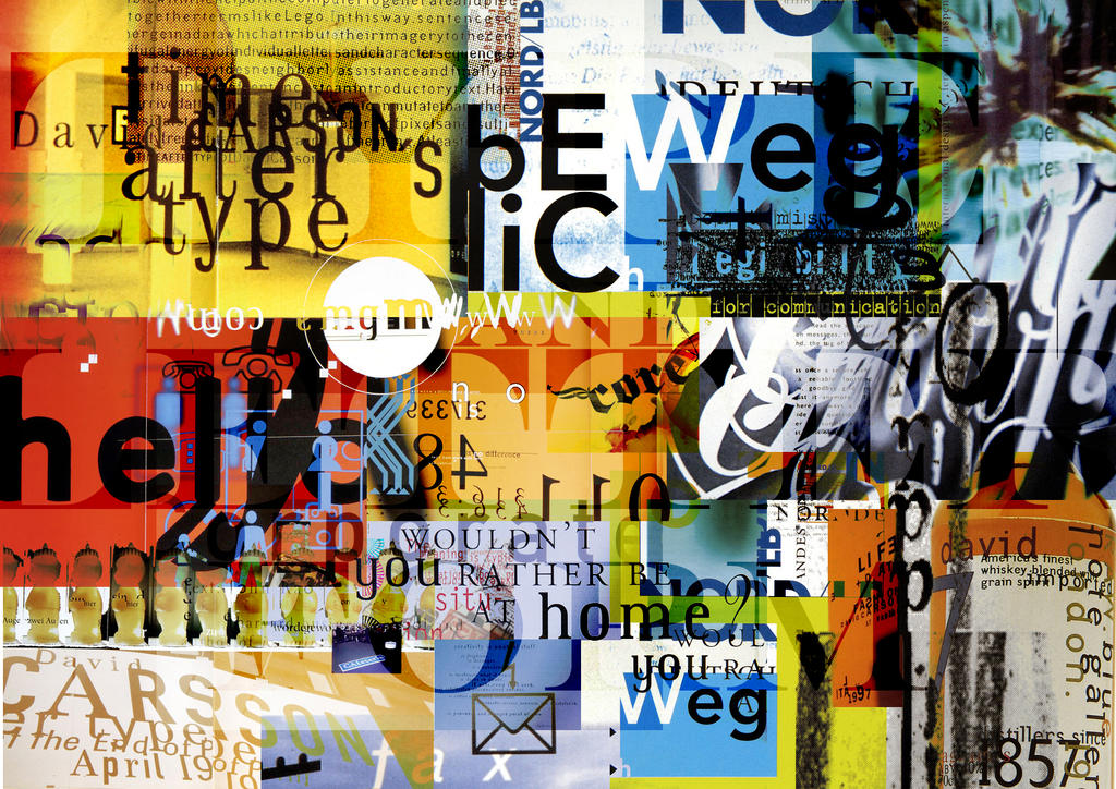 "a brief look at the work of david carson David carson on surf, magazines, graphic design and inspiration ""trust your gut   dc: i'm working on a poster series for harvard graduate school of design i'm  in charge  i'm reading the brief or article, or listening to the music, and deciding  where that sends me, and what would it look like i always try a."