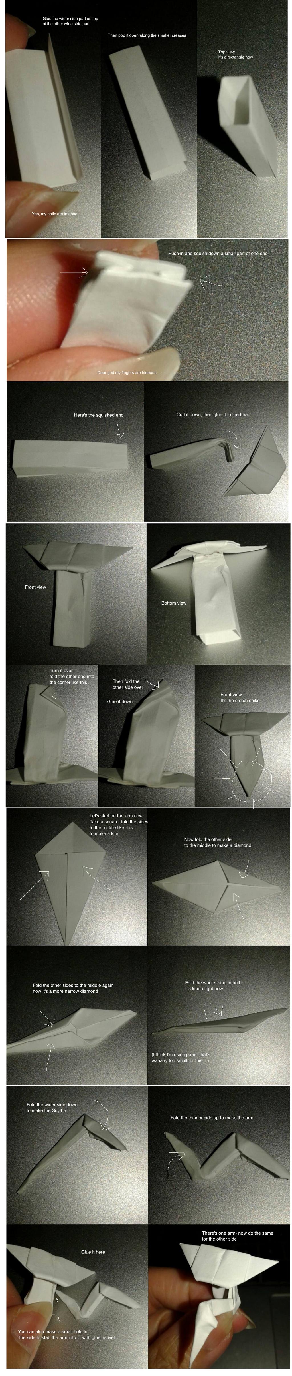 Papercraft Kabutops tutorial 2 by okamitsuki