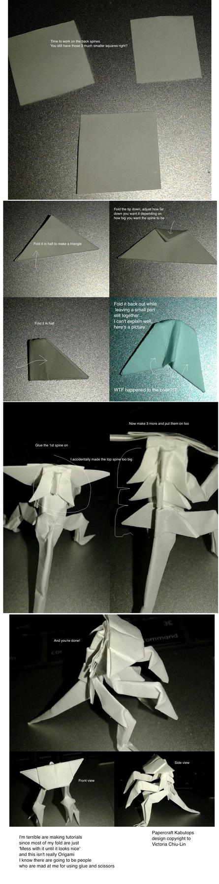 Papercraft Kabutops tutorial 4 by okamitsuki