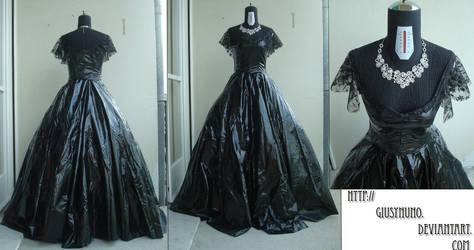 Original PVC mid '800 ballgown by giusynuno