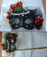 Marguerite's mask - Takarazuka's Scarlet Pimpernel by giusynuno