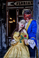 Disney Masquerade's Beauty and the Beast by giusynuno