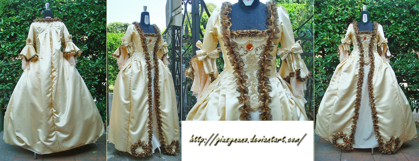 Marie Antoinette inspired Robe a la Francaise by giusynuno