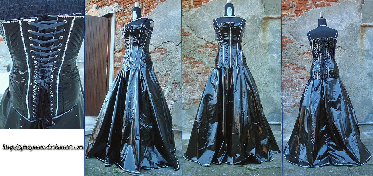 Gothic vinyl onepiece by giusynuno