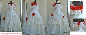 Mid Victorian ballgown