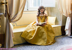 Quiet reading time - Belle by giusynuno
