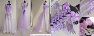 Unicorn Lady fantasy gown