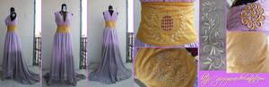 Original Persephone themed fantasy gown