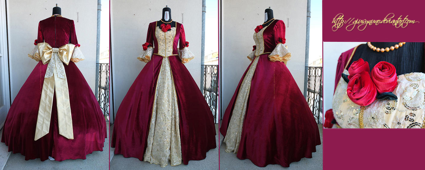 Belle S Burgundy Ballgown Beauty And The Beast By