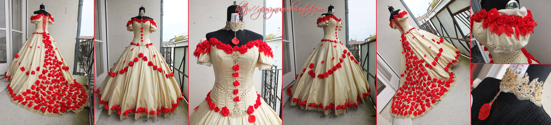 Original Rose Cascade Belle ballgown - BatB
