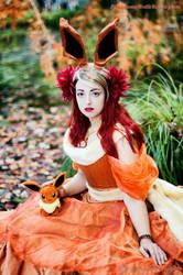 Princess Flareon - gijinka Pokemon