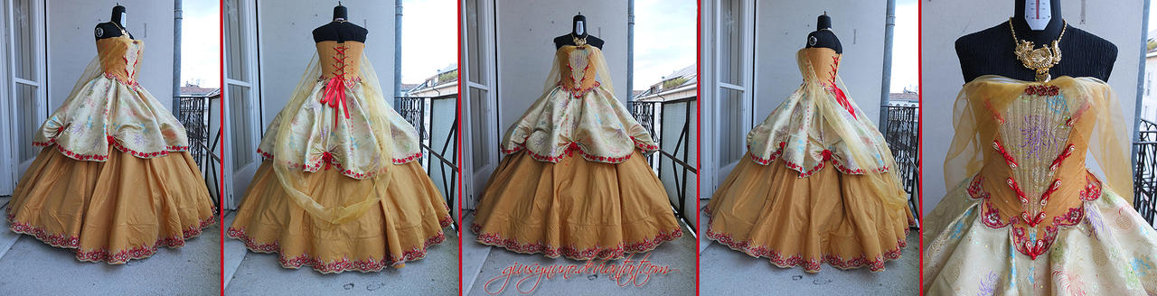 Tang inspired Belle ballgown (Beauty and the Beast