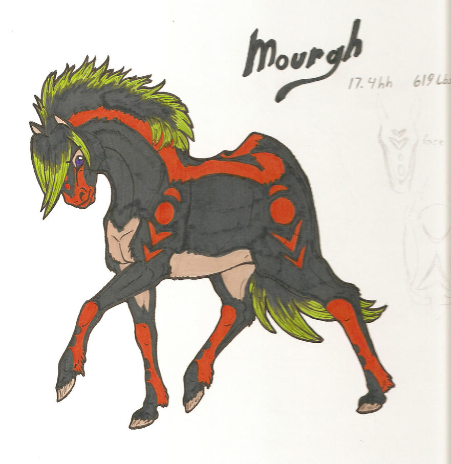 Mourgh The Dark One by SerebrineyDrakon