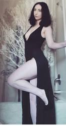 Black Dress Strip Set