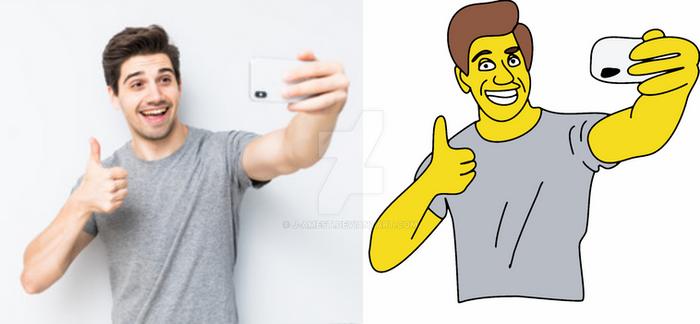 SELFIE Simpson Style :D