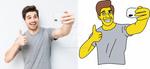 SELFIE Simpson Style :D by J-amesT