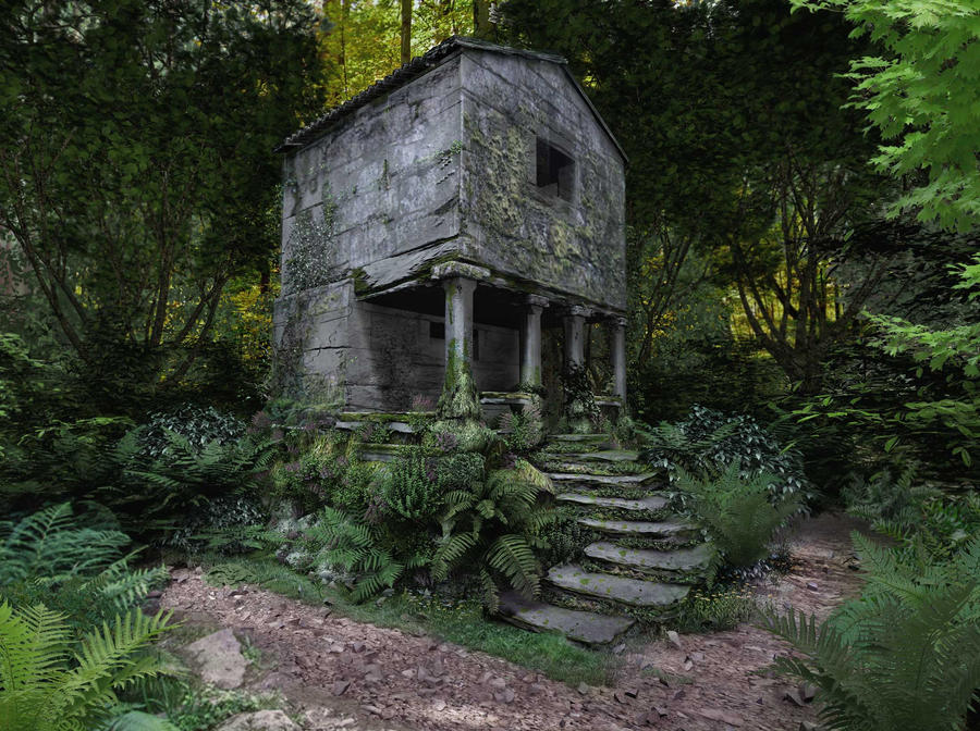 Stone house in the woods by eremes2703 on deviantart - The house in the woods ...