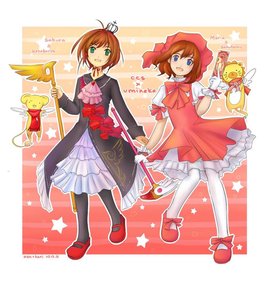 ccs x umineko - sakura + maria
