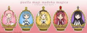 Madoka Magica Character Soul Gem Keychains